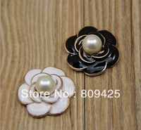 Free shipping! mix order $15 pearl flower for alloy flatback 12pcs for women cellphone case decoration