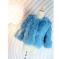 free shipping 2013 winter fur coat fox fur outerwear short design pink water blue  fur coats