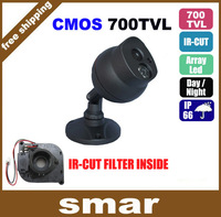 "2013 NEW 1/3"" cmos 700tvl led array IR-CUT outdoor/indoor waterproof CCTV camera with Bracket Free shipping"