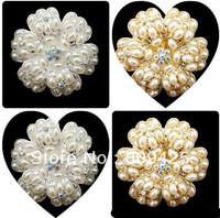 Free shipping! mix order $15 pearl Camellia flower for alloy flatback 6pcs for women cellphone case decoration
