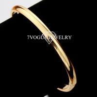 New 2013 Modern Simple Style Bangle For Men Or Women Fashion 18K Real Gold Plated Bracelets & Bangles Men Jewelry Wholesale H321