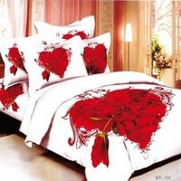 big red Rose floral animal printed bedding set 3d Cotton Duvet quilt comforter cover King Queen size Luxury bed sheet Linen sets