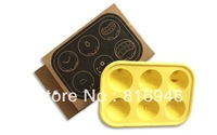 Free shipping! novelty households Mr.T Face Ice Tray Ice cube mold ,DIY Ice cream maker mould,2pcs/lot