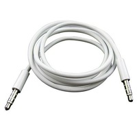 High Quality White 3.5mm To 3.5 mm Car Aux Audio Cable For iphone/ipod/ipad/mp3/mp4/phone