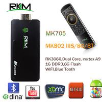 Rikomagic MK802 IIIS Mini Android 4.2 PC Android box RK3066Cortex A9 1GB RAM 8G ROM with Bluetooth[MK802-II IS/8G/BT+MK705]