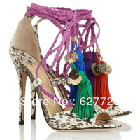 Ladies 2013 Newest Fancy Sandles,Open Toe High Heel Sandles,Beautiful Tassel Sandals