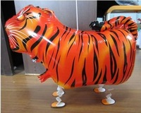 10PCS\LOT Tiger Foil Balloons Walking Animal Balloon Kids 3D Style Helium Balloon Inflatables Gift