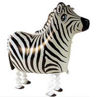 10PCS\LOT High Quality Zebra Aluminum Foil Balloons Walking Pet Balloon Inflatables Toys
