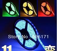 Superbright 5M Flexible RGB LED Light Strip 16ft 5050 SMD  300 LEDs 60leds/Meter Waterproof + 44 Key IR  Controller 72W DC 12V