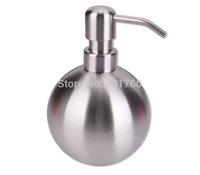 500ml home supplies Stainless steel Liquid Soap Dispensers spherical bottle hand sanitizer bottle bathroom free shipping