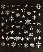 2013 newest free shipping Hot sell snow 3d nail sticker