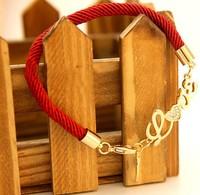 Elegance Stylish China Red Cord LOVELY And Angle Wing Bracelets,Cute Rhinestone Charm Bracelet,Fashion Rope Bracelet For Women