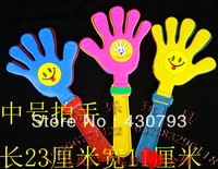 Free Shipping Wholesale Event & Party Supplies Three-color Hands Shoot,Clap your Hands Props,Red ,Yellow, Blue 1 Pack/5pcs