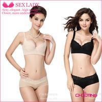 2013 stylish underwear sexy lingerie bra for women deep v bras push up bra set black white lace cotton large size bra underwear
