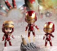 Set Of 3pcs, Cute Mini IRON MAN III Ironman Tony Stark 10cm PVC Figure Toys