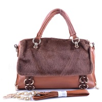 Free shipping 2013 New winter women handbag leather bag fashion orange shoulder bag hit color diagonal package