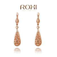 ROXI Brand real 18K rose gold plated fashion gold earrings for women,high quality,Fashion gold Jewelry,2020019280