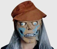 Hat protruding eyes Monster long white hair mask Scary Horror Theme Halloween Masquerade Party Cosplay Masks Wholesale