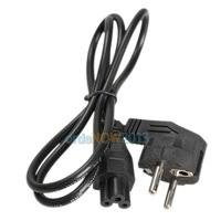 O3T# 1M EU 3 Prong 2 Pin AC Laptop Power Cord Adapter Cable Black