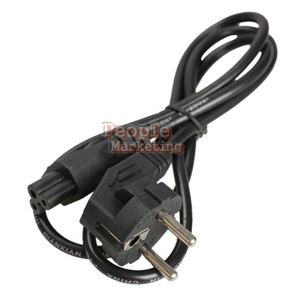 1M EU 3 Prong 2 Pin AC Laptop Power Cord Adapter Cable Black P4PM(China (Mainland))