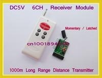 DC5V Decoding RF Transmitter Receiver Module1000M 6CH Remote Control System M4 L4 TTL Long Range Transmitter Momentary Toggle