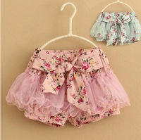 Wholesale--5pcs/lot.2013 summer  Hot sale!! children's clothing girls gauze shorts child floral shorts kids culottes tutu shorts