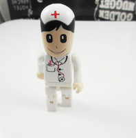 10pcs/lot Pendrive 64GB Cool Doctor Man and Woman USB Flash Drive Disk Stick Momery Card Pen Drive
