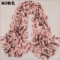 Velvet design chiffon long silk scarf summer sunscreen air conditioning cape autumn and winter female chiffon scarf