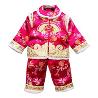 Female winter child tang suit ceremonized female child tang suit set formal dress child tang suit baby tang suit cotton