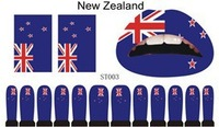 NEW ZEALAND flag suit tatoo 12 pcs nail stickers+ 2 pcs face sticker + 1 lip sticker 500 sheets/lot wholesale free shipping