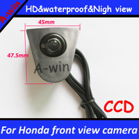 "night vision HD CCD 1/3"" waterproof  Effective Pixels 728*582 CCD car front view camera FOR honda universal"