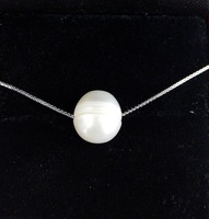 Free shipping 11mm baroque round pearl pendent necklace  good luster  good gift for friends