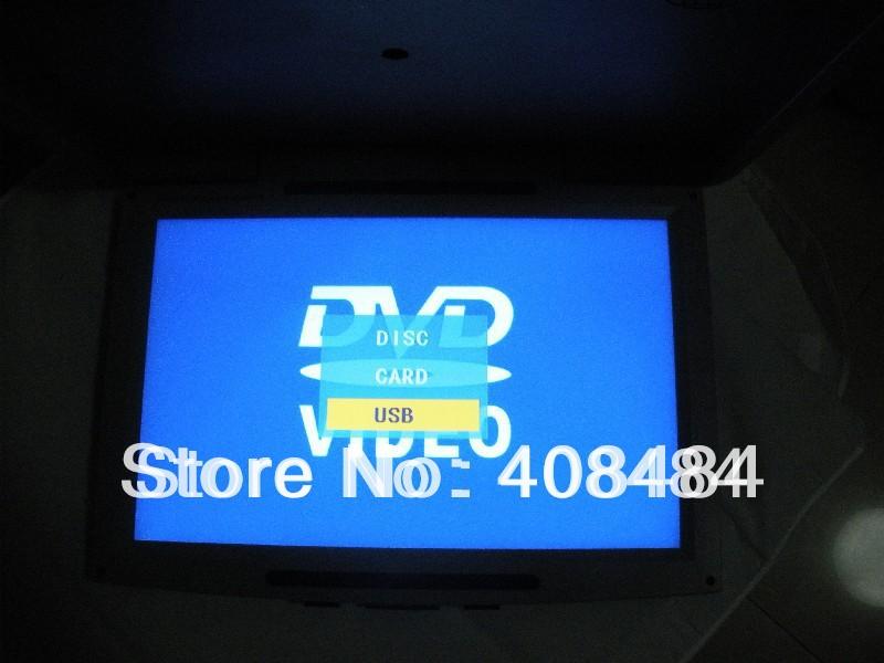 "17"" Flip Down DVD Player Roof Mount DVD Player Flip Down Monitor Game IR USB SD FM DIVX 2Pcs/Lot Free Shipping(China (Mainland))"