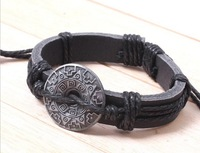 Chinese Style National Trendy Anise Handmade Braided Leather Charms Bracelet Wristband Free Shipping RuYiSLQ52
