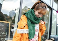 Free Shipping,fashion long warm pure color twist knittingshawl scarf