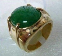 shipping free Men's jewelry REAL green jade ring size:8-11