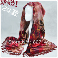 2013 NEW BRAND Ladies Womens 100% Silk 68'x20' Scarfs Elgent FREE SHIPPING