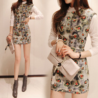 2013 autumn women's slim elegant slim hip ol one-piece dress twinset skirt