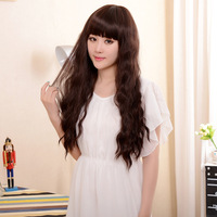 Girls wig long curly hair fluffy long high temperature wire elegant ol fashion female