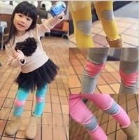 wholesale 1lot/5pcs girls leggings tights socks many color for girl children COTTON socks  free shipping KO=7