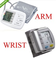 Free Shipping Fully-auto ARM Blood Pressure Monitor Big LCD display sphygmomanometer ARM