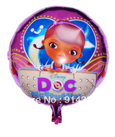 Free shipping new 50pcs/lot 18 inch aluminum foil helium balloons Doc Mcstuffins balloon birthday party supplies