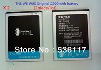 2piece / lot SG post free shipping 100% new Original battery for THL W8 W8S Lithium ion battery high quality