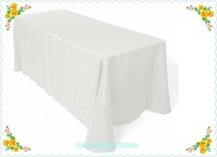 Special Made white 100% polyester Tablecloth For Wedding 110'' * 125'' Wedding Table Cloth