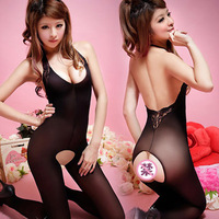 Sexy one piece women's stockings milk open file pantyhose tight fitting set skimpily