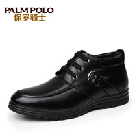 Paul 2013 knight winter new arrival male thermal cotton-padded shoes handmade cotton boots male high-top shoes casual