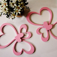 Fashion brief romantic decoration tv three-dimensional wall stickers wooden crafts