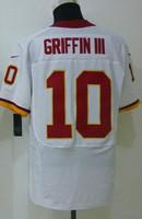 Best&FastFree Shipping Cheap Washington Football Jerseys #10 Robert GriffinIII White Red Elite Jersey, Size: S-XXL Mix Order