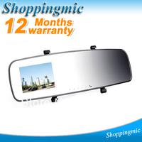Car DVR camera back mirror camera with 1080P + 140 degree view angle + G-sensor Novatek vehicle rearview mirror DVR