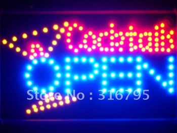 led134-b Cocktails OPEN Bar Led Neon Sign WhiteBoard Wholesale Dropshipping